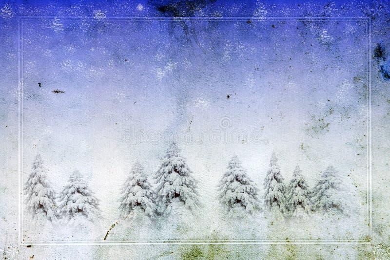Cartolina d'auguri di natale dell'annata fotografia stock libera da diritti