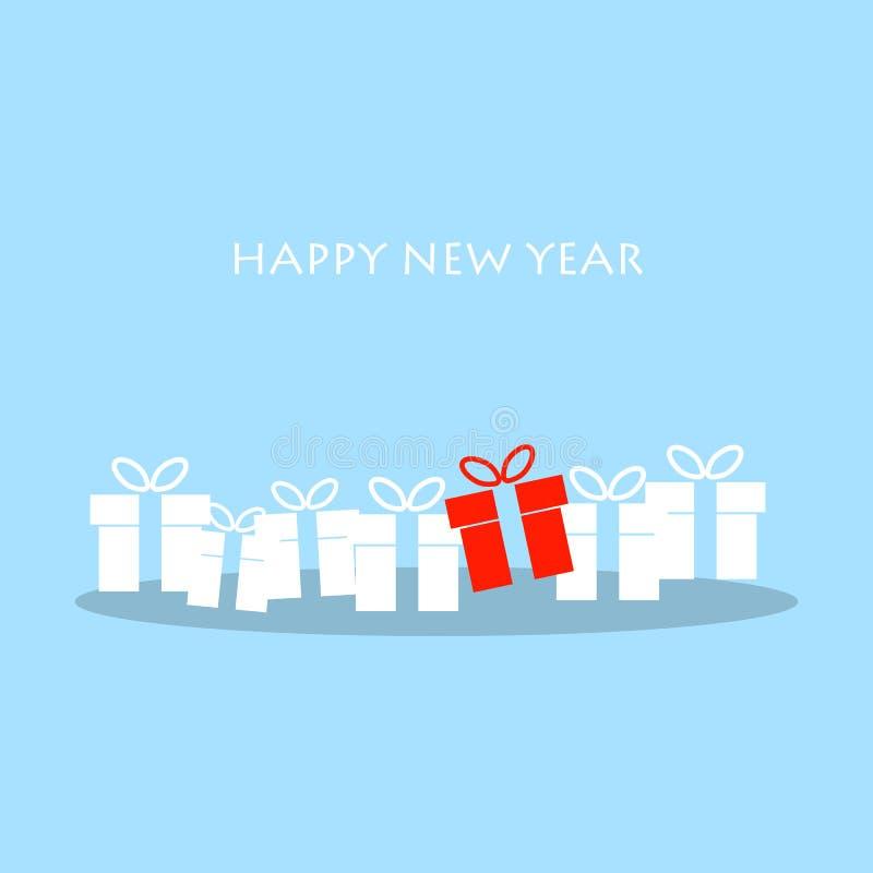 Download Cartolina D'auguri Di Natale E Del Buon Anno Illustrazione Vettoriale - Illustrazione di disegno, rosso: 56883323