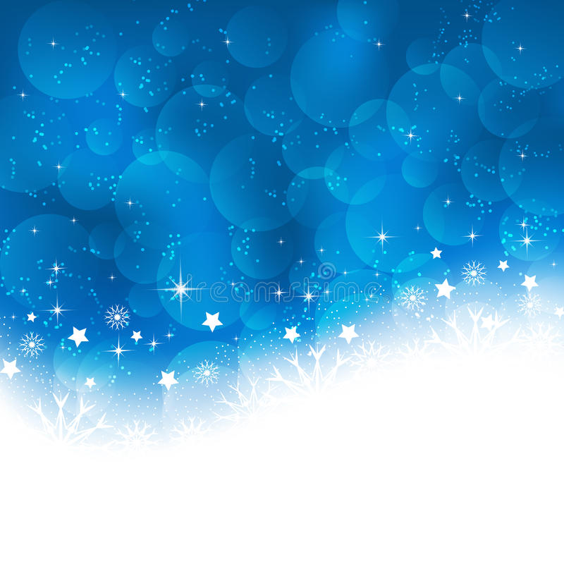 Cartolina d'auguri di Natale su un fondo blu illustrazione di stock