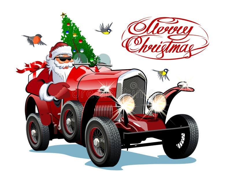 Cartolina d'auguri di Natale di vettore con l'iscrizione di Natale royalty illustrazione gratis