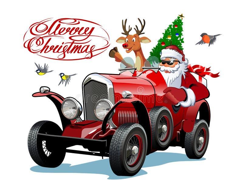 Cartolina d'auguri di Natale di vettore con l'iscrizione di Natale illustrazione vettoriale