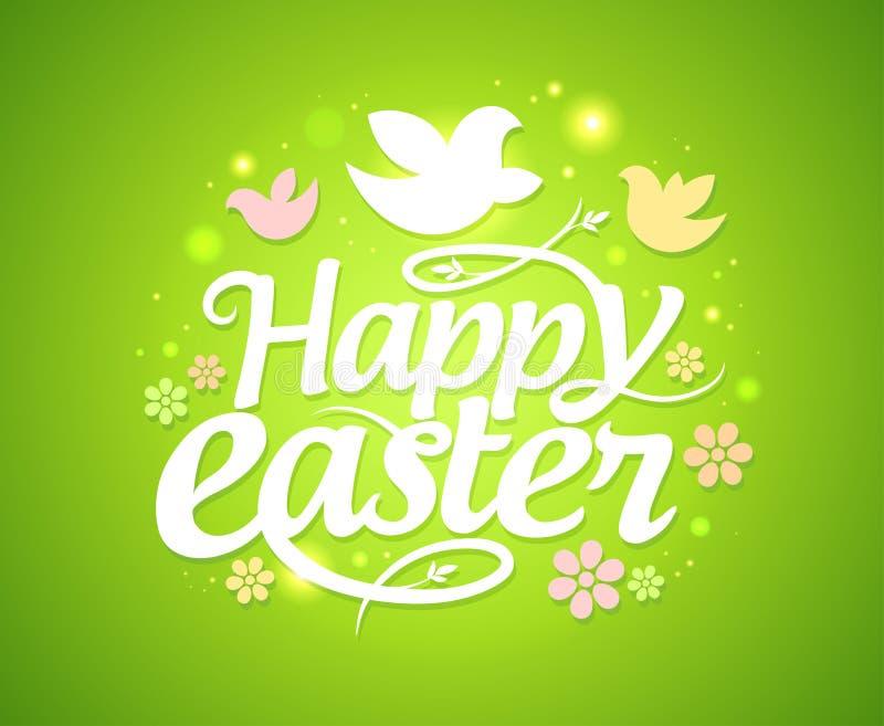 Cartolina d'auguri di Pasqua. illustrazione di stock