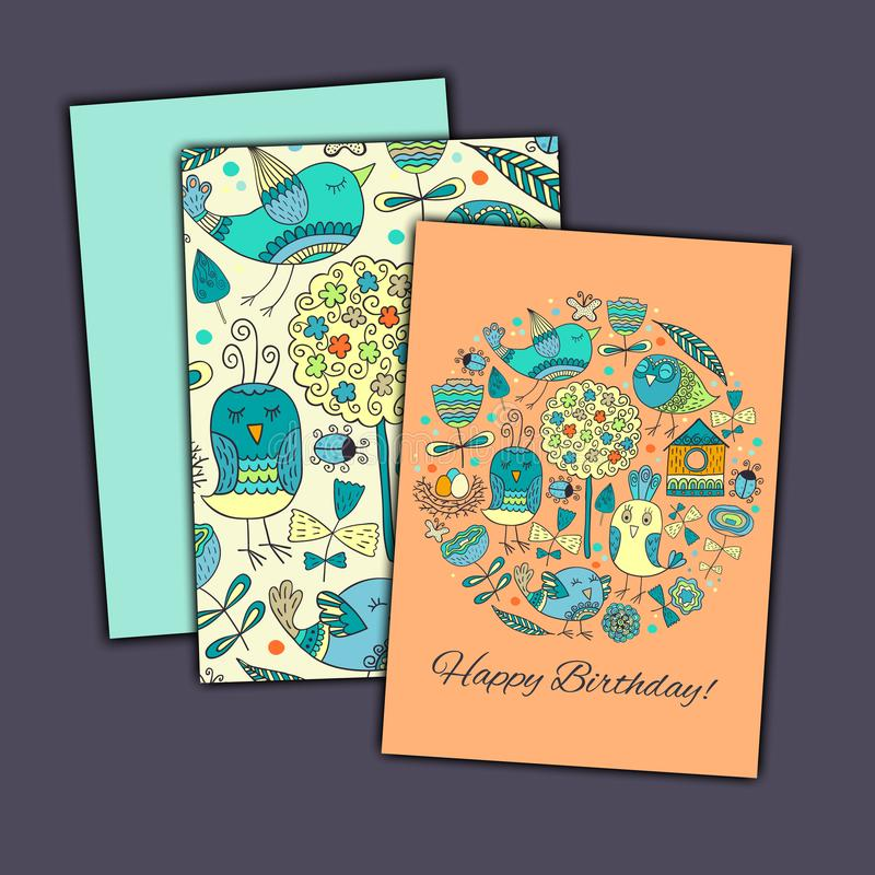 Cartolina D Auguri Di Vettore Di Buon Compleanno Con Gli