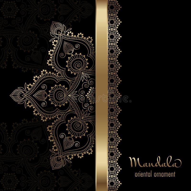 Cartolina d'auguri dorata royalty illustrazione gratis