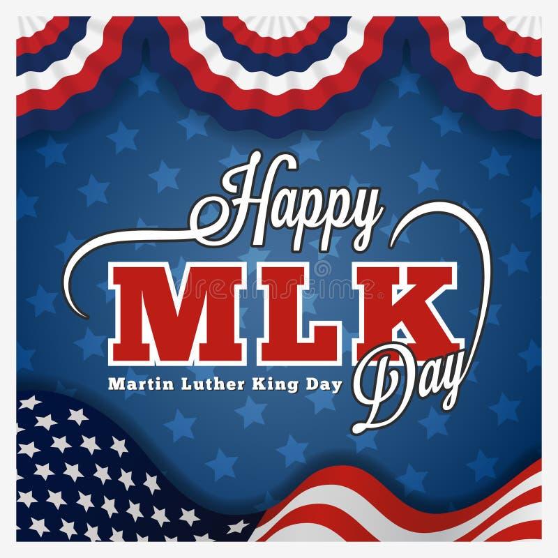 Cartolina d'auguri ed iscrizione di giorno di Martin Luther King royalty illustrazione gratis