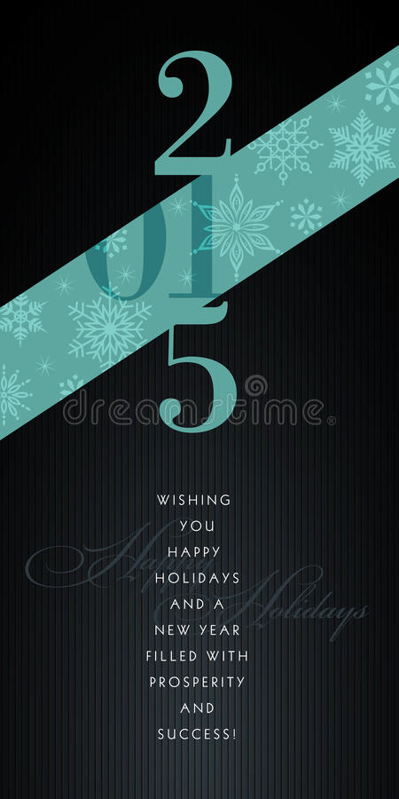 cartolina d'auguri elegante 2015 illustrazione vettoriale