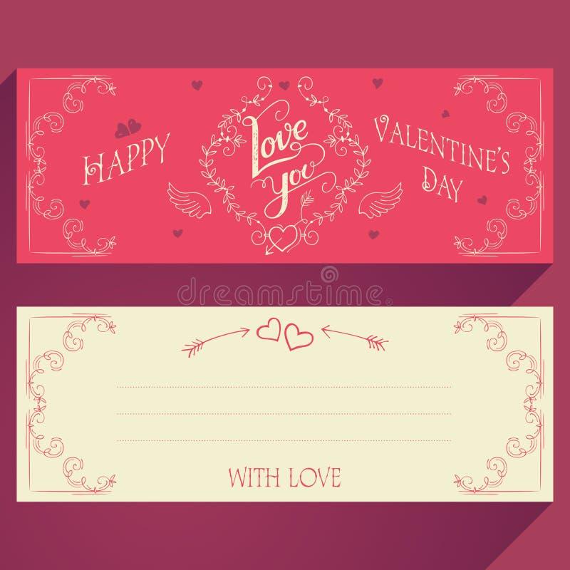 Cartolina d'auguri felice di giorno dei biglietti di S illustrazione vettoriale