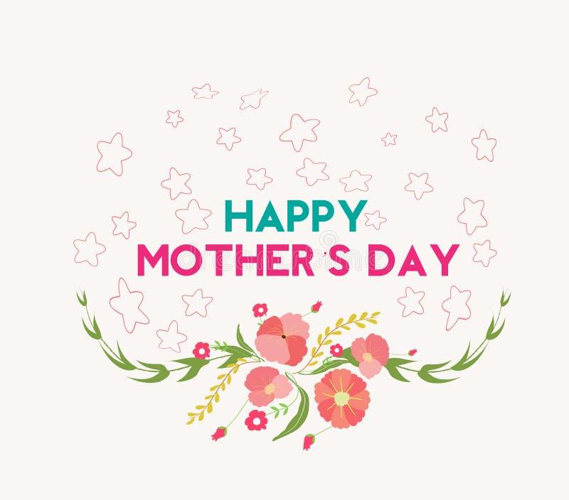Cartolina d'auguri felice di giorno di madre illustrazione vettoriale