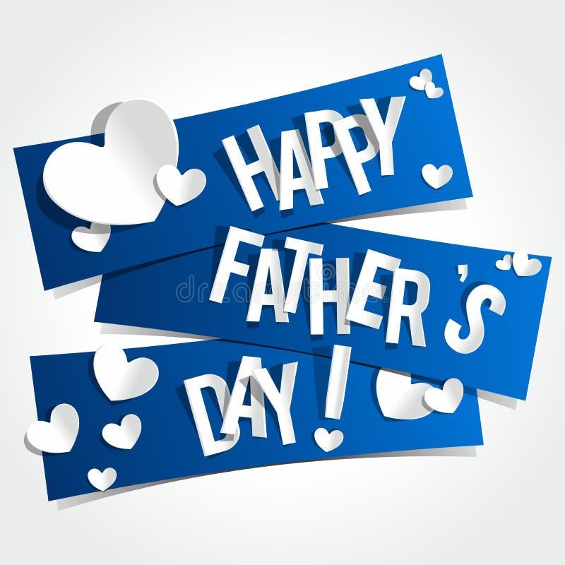 Cartolina d'auguri felice di giorno di padri illustrazione vettoriale