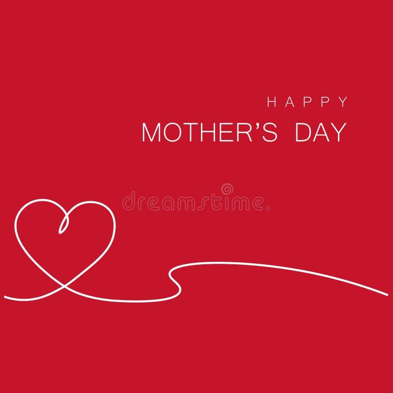 Cartolina d'auguri felice di giorno di madri, illustrazione di vettore illustrazione di stock