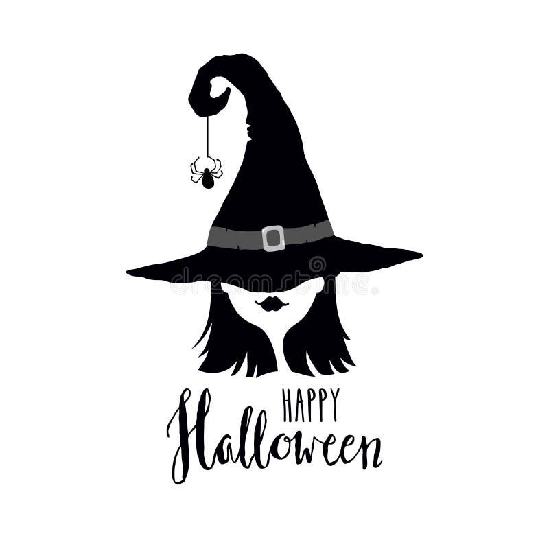 Cartolina d'auguri felice di Halloween illustrazione vettoriale