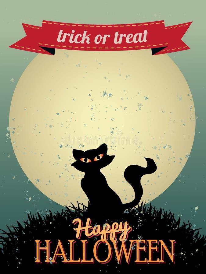 Cartolina d'auguri felice di Halloween illustrazione di stock
