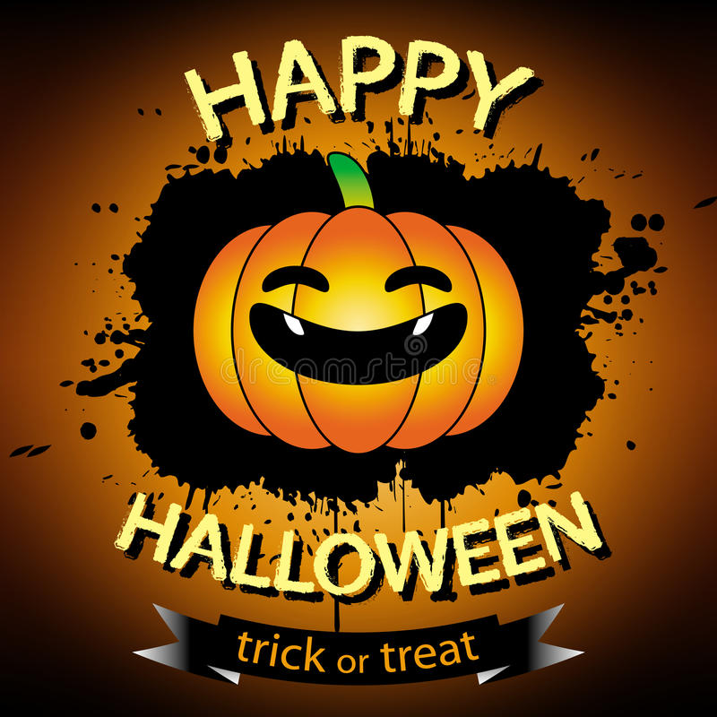 Cartolina d'auguri felice di Halloween royalty illustrazione gratis