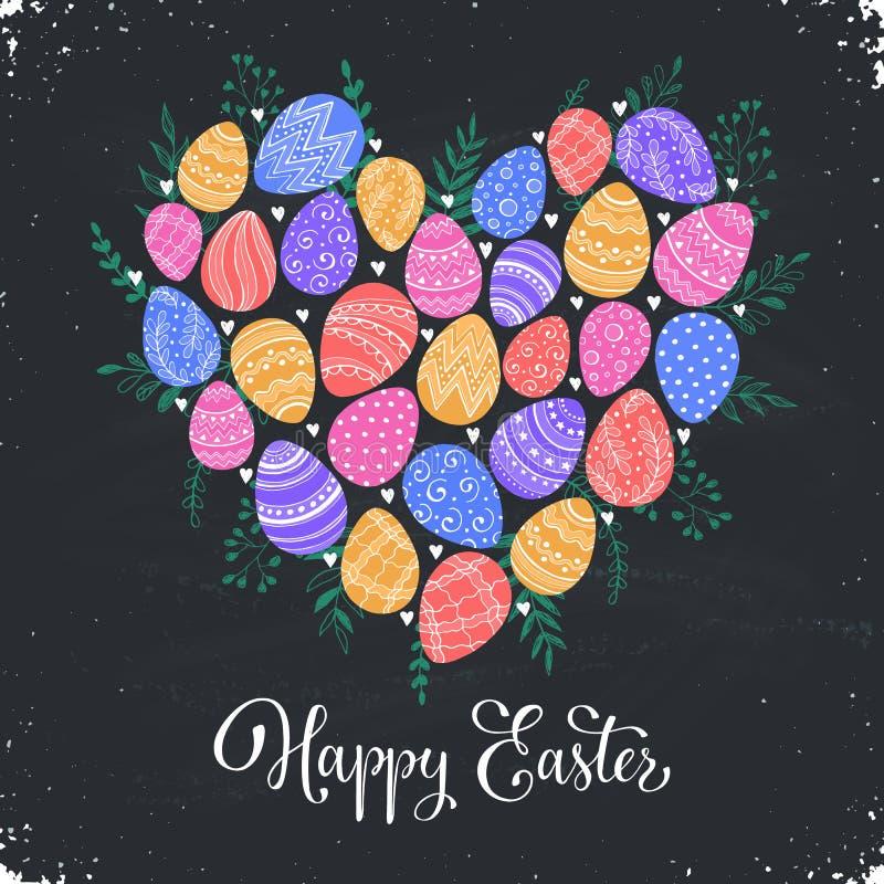 Cartolina d'auguri felice di Pasqua royalty illustrazione gratis