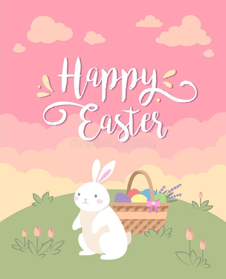 Cartolina d'auguri felice di Pasqua fotografie stock libere da diritti