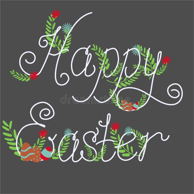 Cartolina d'auguri felice variopinta di Pasqua illustrazione vettoriale