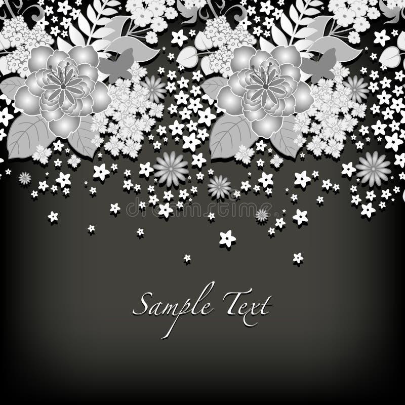 Cartolina d'auguri floreale illustrazione di stock
