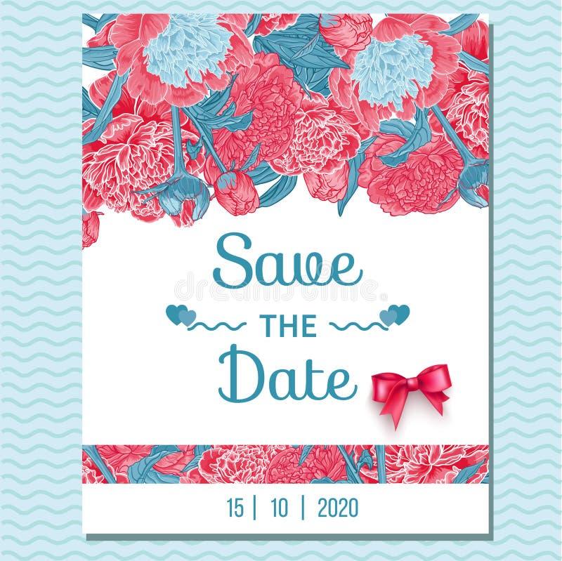 Cartolina d'auguri floreale dell'invito illustrazione vettoriale