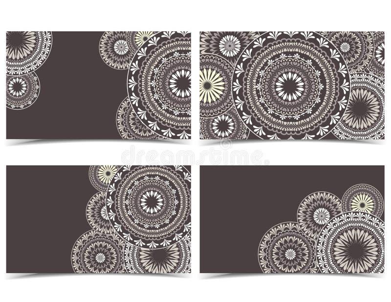 Cartolina d'auguri floreale di vettore royalty illustrazione gratis