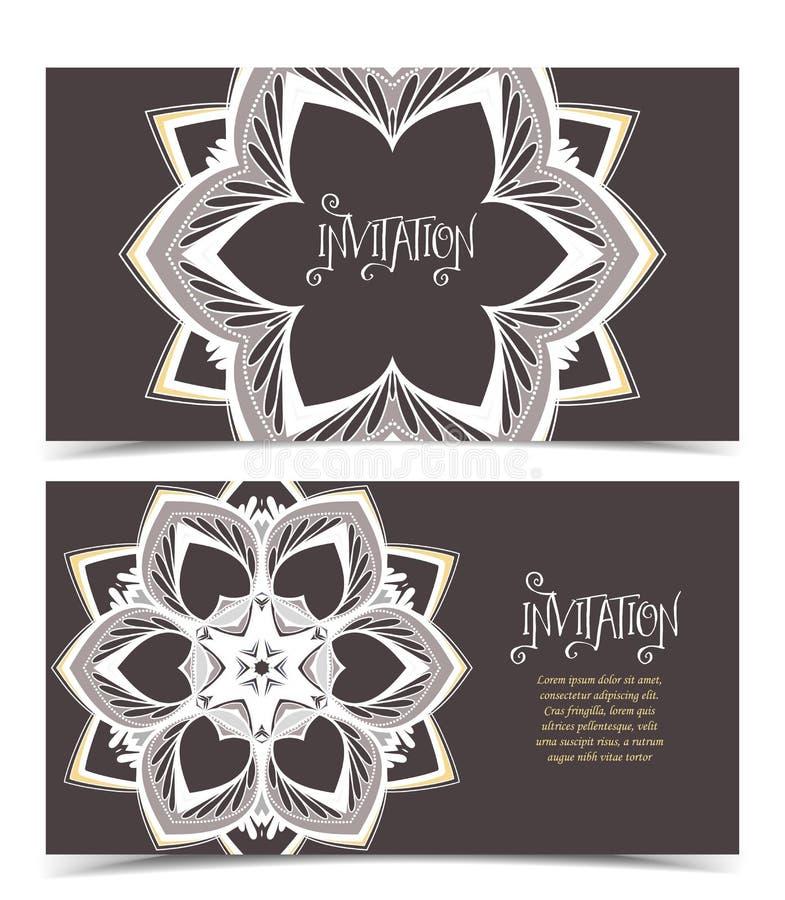 Cartolina d'auguri floreale di vettore illustrazione di stock