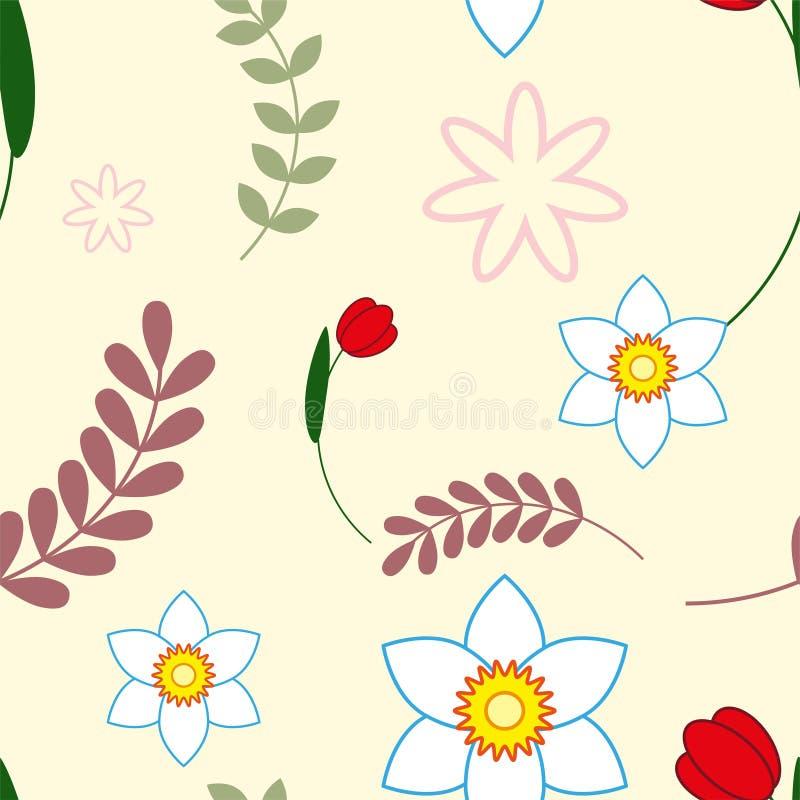 Cartolina d'auguri floreale variopinta Internazionale buona Festa della Mamma con il mazzo di fiori della primavera il giorno del illustrazione di stock
