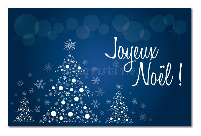 Auguri Matrimonio Francese : Cartolina d auguri francese blu di buon natale nell