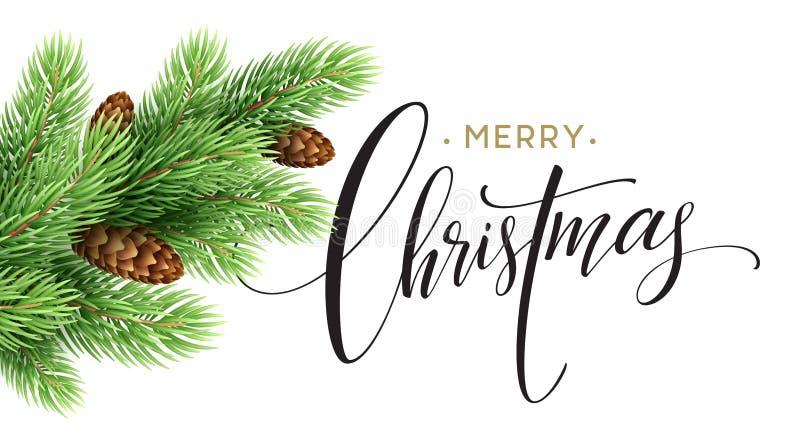 Cartolina d'auguri 2017, illustrazione del buon anno e di Buon Natale di vettore illustrazione di stock