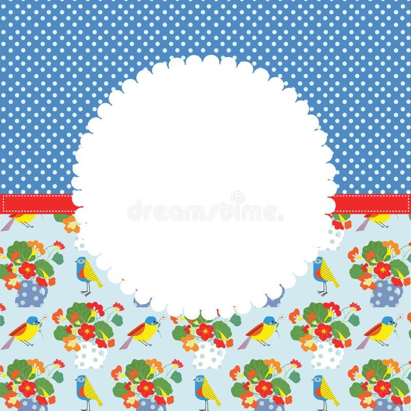Cartolina d'auguri per il compleanno o l'invito royalty illustrazione gratis