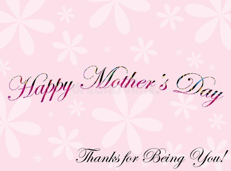 Cartolina d'auguri per il giorno della madre royalty illustrazione gratis