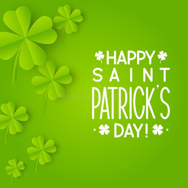 Cartolina d 39 auguri per il giorno della st patricks - St patricks giorno fogli di colore giorno ...