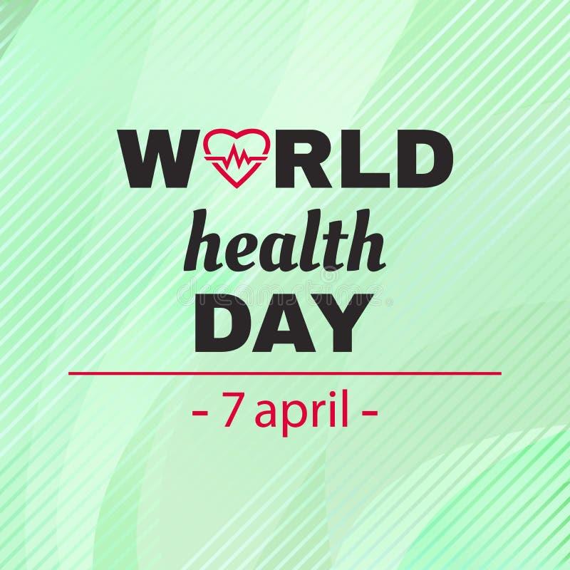 Cartolina d'auguri per il giorno di salute di mondo Vettore illustrazione vettoriale