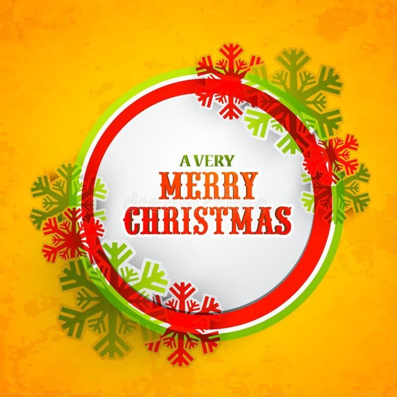 Cartolina d'auguri per la celebrazione di Buon Natale illustrazione vettoriale