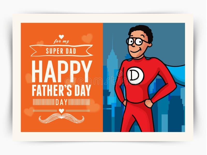 Cartolina d'auguri per la celebrazione felice di festa del papà royalty illustrazione gratis