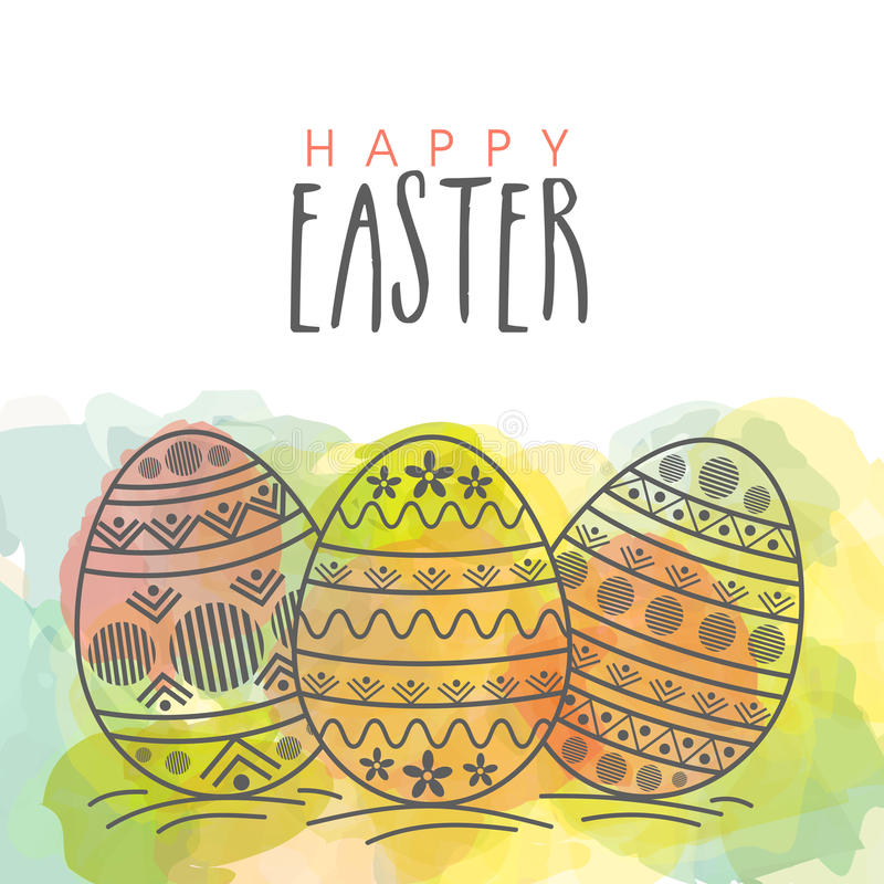 Cartolina d'auguri per la celebrazione felice di Pasqua illustrazione di stock