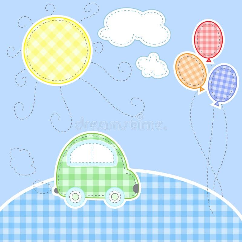 Cartolina d'auguri sveglia del bambino royalty illustrazione gratis