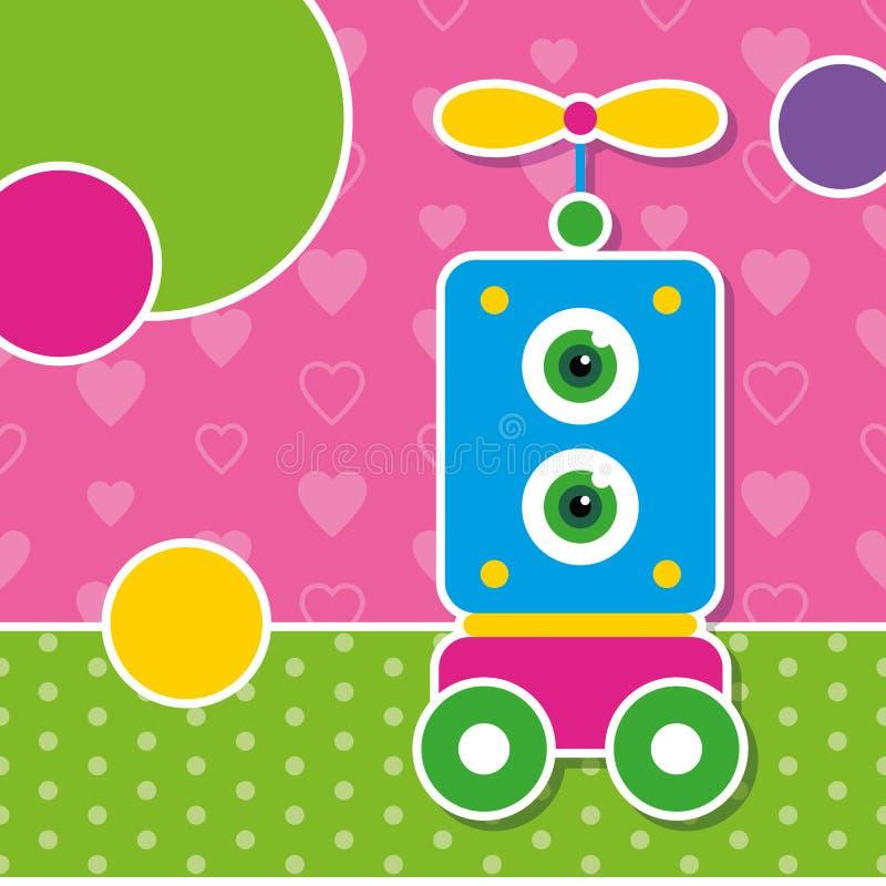Cartolina d'auguri sveglia del robot royalty illustrazione gratis