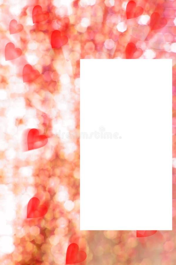 Cartolina del biglietto di S. Valentino illustrazione di stock