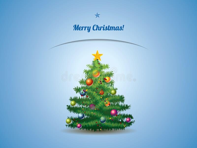 Cartolina dell'albero di Natale illustrazione di stock