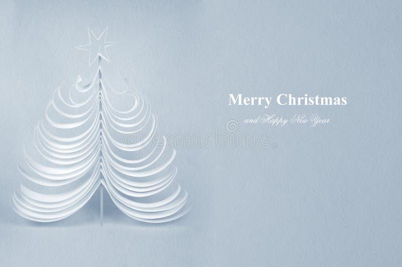 Cartolina dell'albero di Natale immagine stock libera da diritti