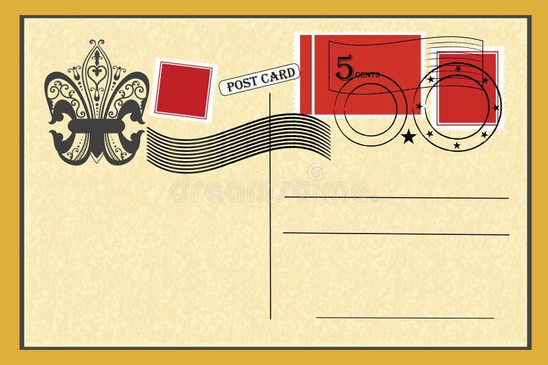 Cartolina dell'annata illustrazione di stock