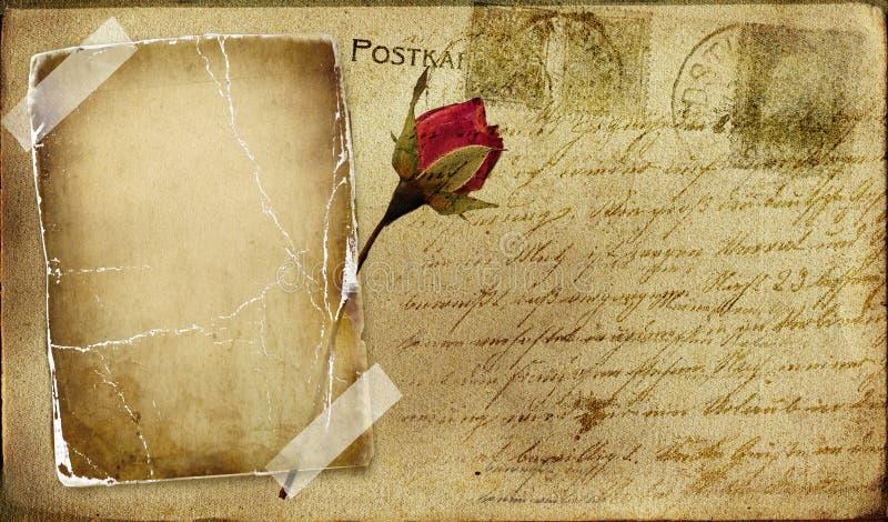 Cartolina dell'annata illustrazione vettoriale
