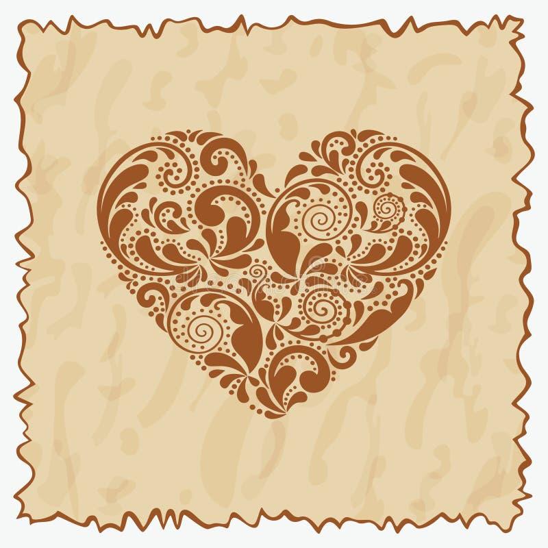 Cartolina dell'annata. illustrazione di stock