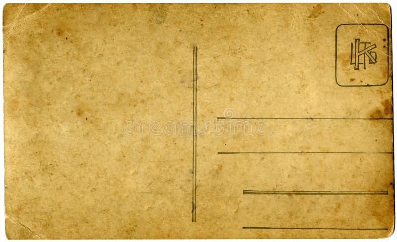 Cartolina dell'annata immagini stock libere da diritti