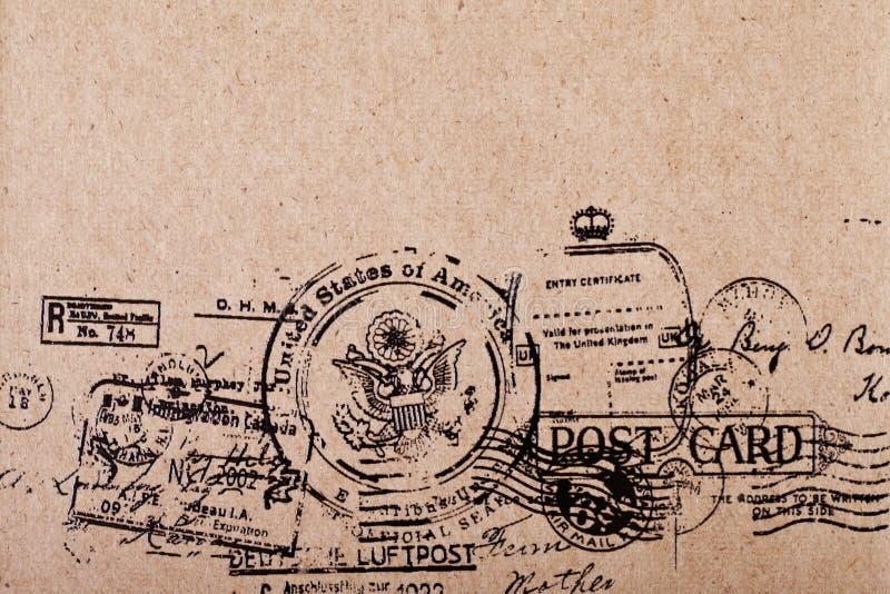 Cartolina dell'annata dello spazio in bianco del lato posteriore fotografia stock libera da diritti
