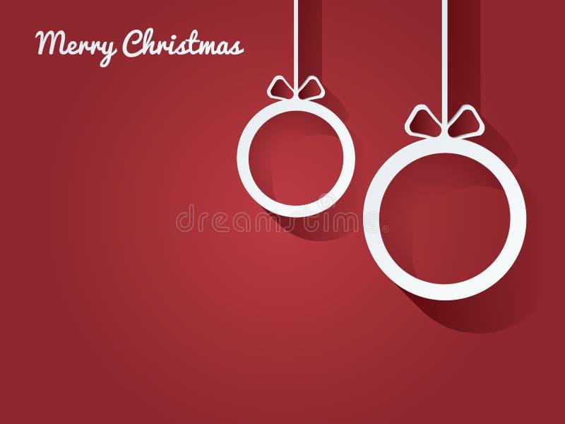 Cartolina delle palle di Natale illustrazione vettoriale
