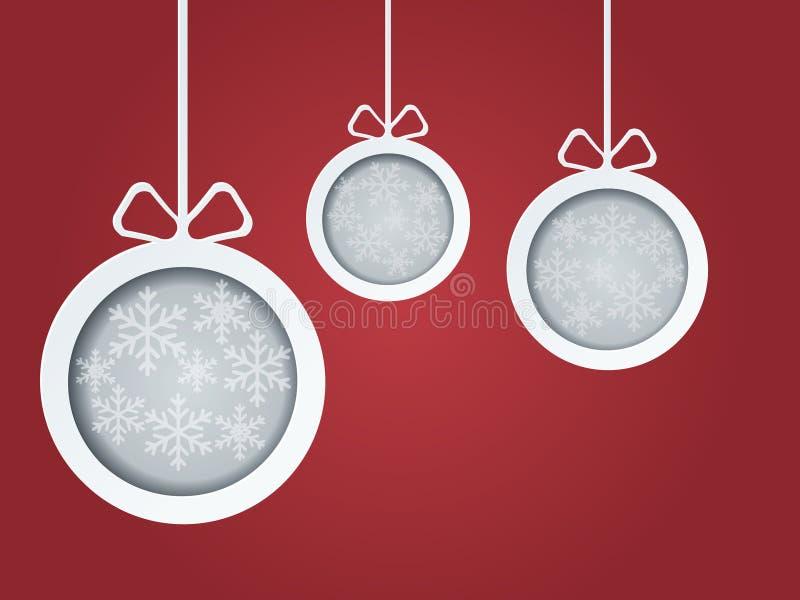Cartolina delle palle di Natale illustrazione di stock