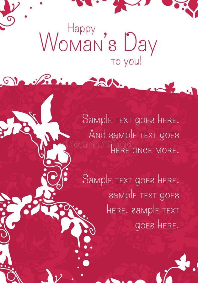 Cartolina di giorno della donna fotografia stock