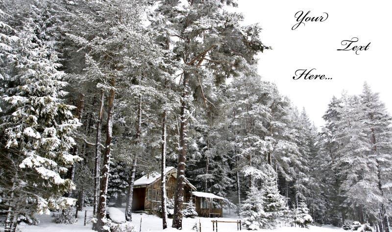 Cartolina di inverno fotografia stock
