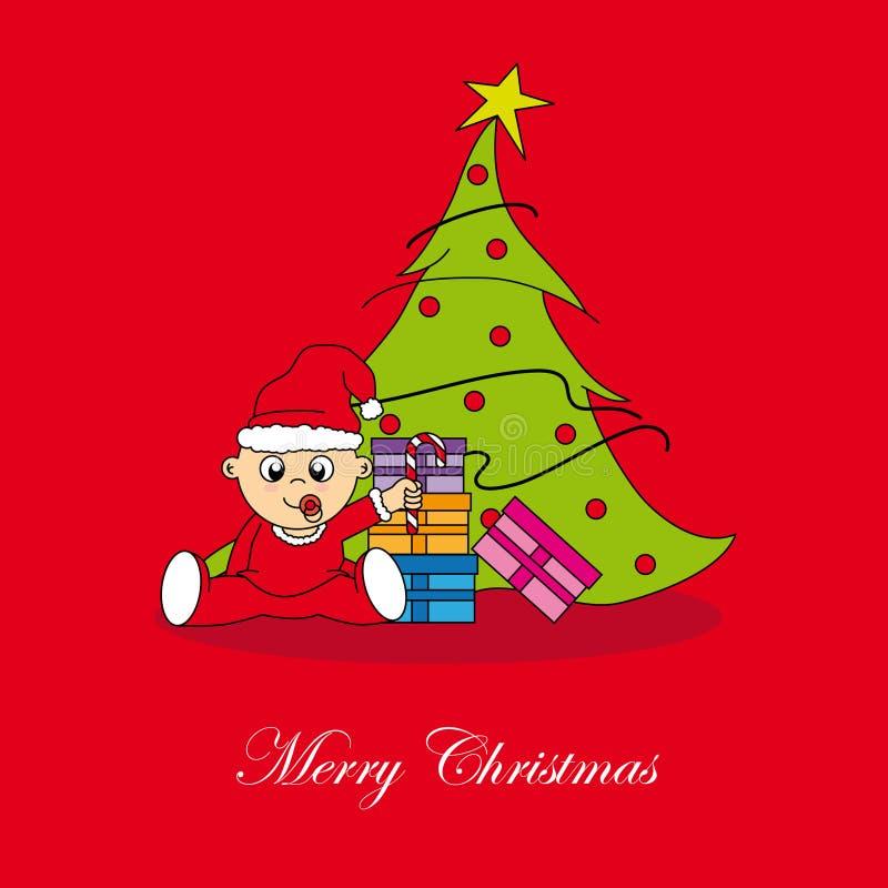Cartolina di Natale. illustrazione vettoriale
