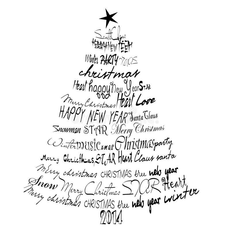 Cartolina di Natale 2014. fotografia stock libera da diritti